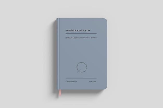 Simple notebook mockup bovenaanzicht