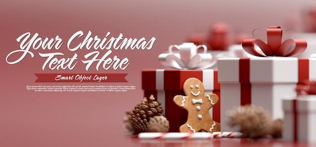 Simulacro de una pancarta navideña