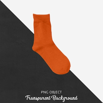 Singoli calzini arancioni su sfondo trasparente