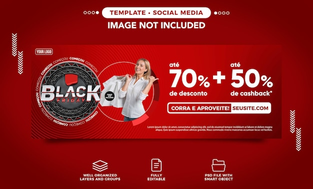 El sitio web de banner black friday ofrece hasta 70 de descuento en brasil