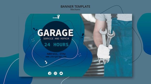 Sjabloon concept met monteur voor banner