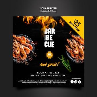 Sjabloon folder met barbecue ontwerp