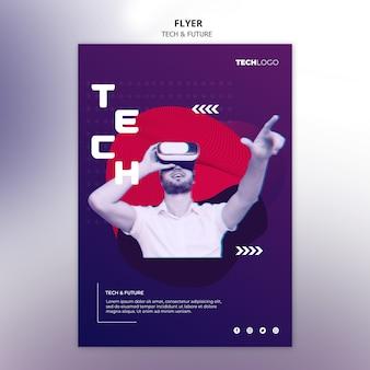 Sjabloon folder met technologieontwerp