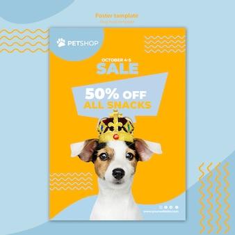 Sjabloon folder met voedsel hond verkoop