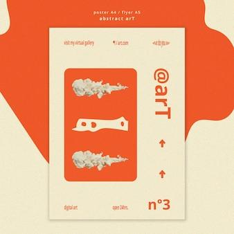 Sjabloon folder voor abstracte kunst