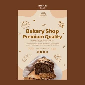 Sjabloon folder voor bakkerij