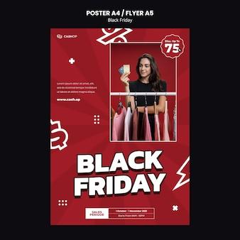 Sjabloon folder voor black friday-verkoop