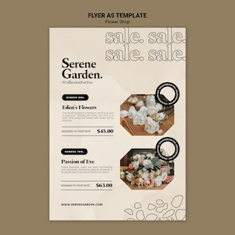Sjabloon folder voor bloemenwinkel