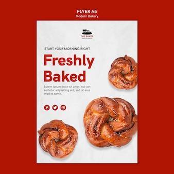 Sjabloon folder voor brood koken bedrijf