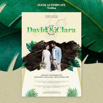 Sjabloon folder voor bruiloftsuitnodiging