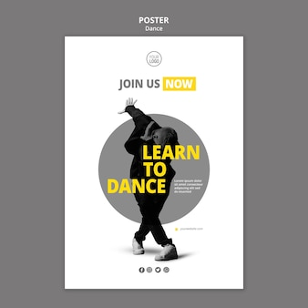 Sjabloon folder voor danslessen