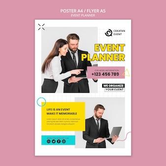 Sjabloon folder voor evenementenplanner