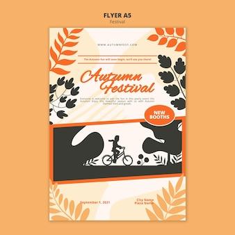 Sjabloon folder voor herfstfestival