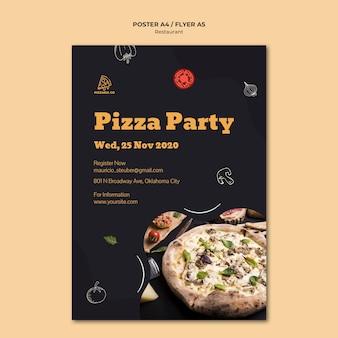 Sjabloon folder voor italiaans restaurant