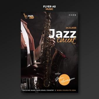 Sjabloon folder voor jazzconcert