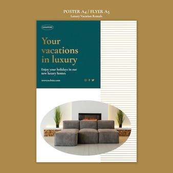 Sjabloon folder voor luxe vakantieverblijven