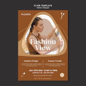 Sjabloon folder voor modeontwerp