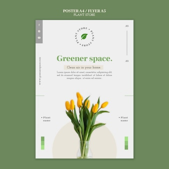 Sjabloon folder voor plantenwinkel