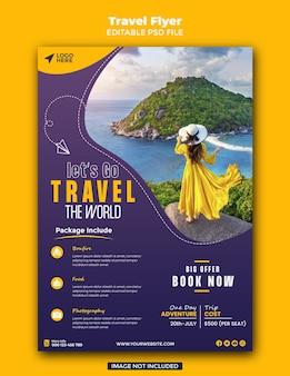 Sjabloon folder voor reisverkoop