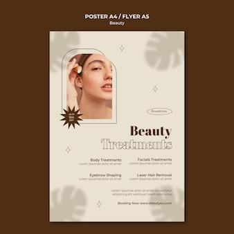 Sjabloon folder voor schoonheidsbehandelingen