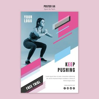 Sjabloon folder voor sport en fitness