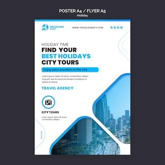 Sjabloon folder voor stadsvakantie