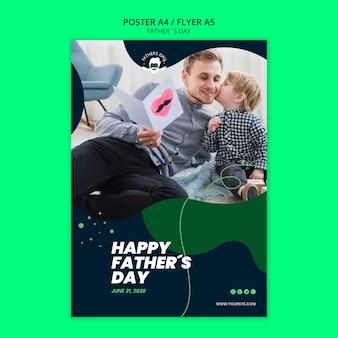 Sjabloon folder voor vaders dag evenement