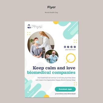 Sjabloon folder voor wereldgezondheidsdag Gratis Psd