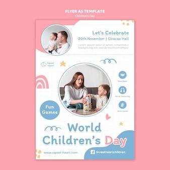 Sjabloon folder voor wereldkinderdag