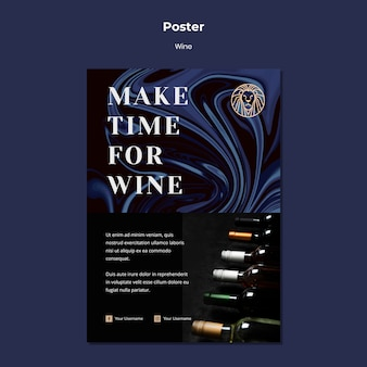 Sjabloon folder voor wijn bedrijf