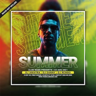Sjabloon folder voor zomerclubfeest