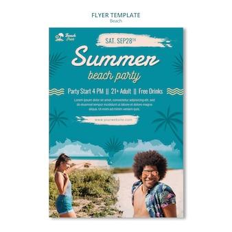 Sjabloon folder voor zomerstrandfeest