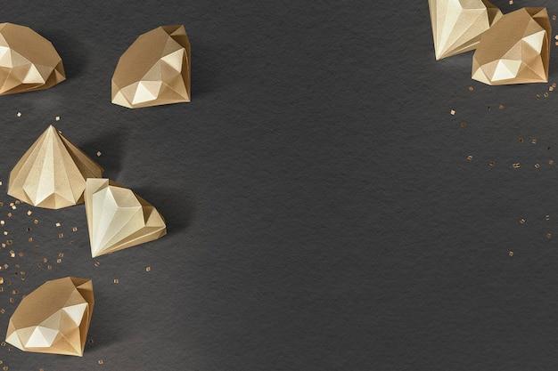 Sjabloon met gouden papieren ambachtelijke getextureerde diamantpatroon
