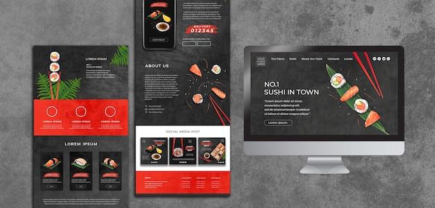 Sjabloon met sushi-dag