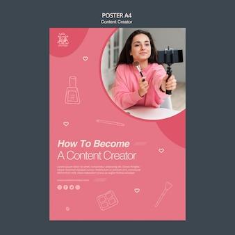 Sjabloon poster voor content creator