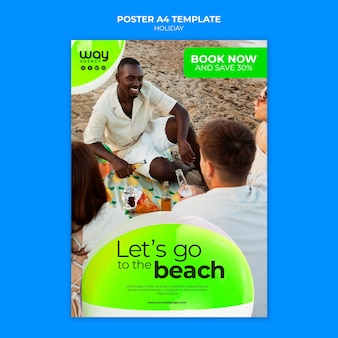Sjabloon vakantieposter boeken