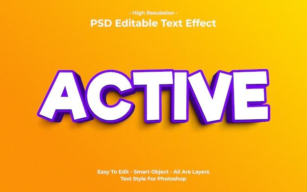 Sjabloon van actief teksteffect