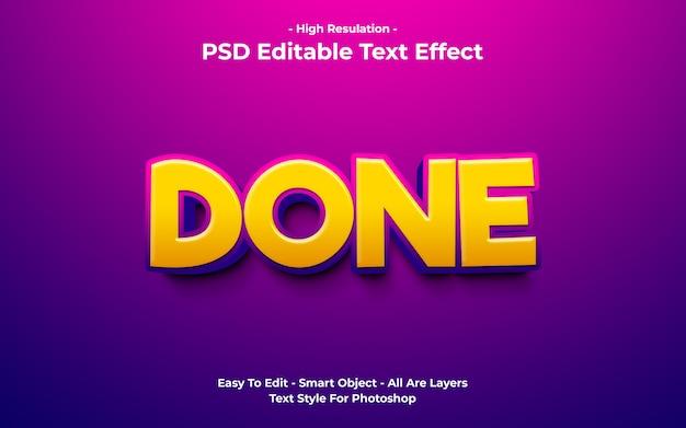 Sjabloon van gedaan teksteffect Premium Psd