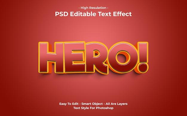 Sjabloon van hero-teksteffect