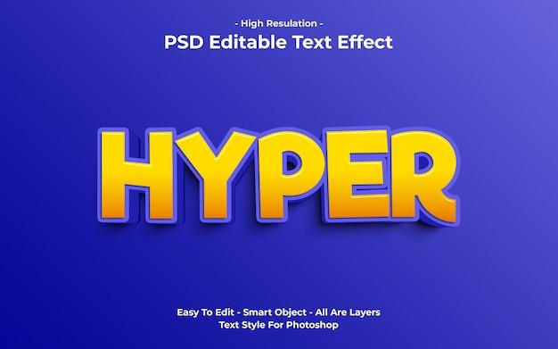 Sjabloon van hyper teksteffect