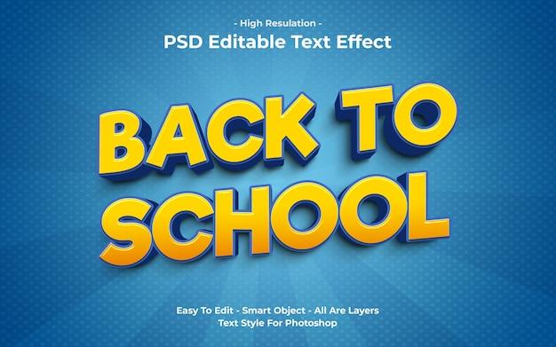 Sjabloon van terug naar school teksteffect