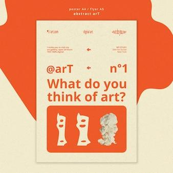 Sjabloon voor abstract kunst flyer