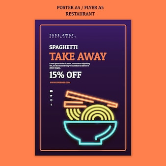 Sjabloon voor abstract restaurant poster