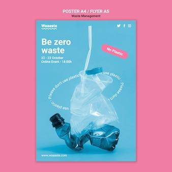 Sjabloon voor afvalbeheerposter