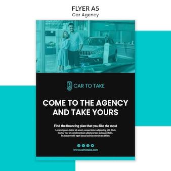 Sjabloon voor auto-agentschap flyer