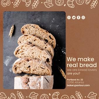 Sjabloon voor bakkerijproducten promotie