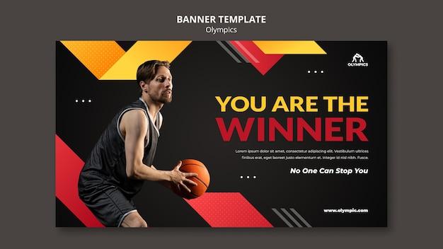 Sjabloon voor basketbalbanner