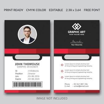 Sjabloon voor bedrijfsidentiteitskaart