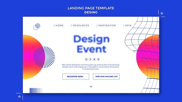 Sjabloon voor bestemmingspagina's voor evenementen ontwerpen