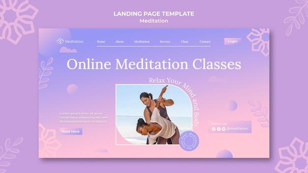 Sjabloon voor bestemmingspagina's voor meditatie-levensstijl